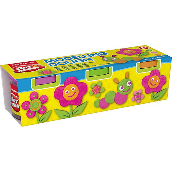 Пластилин на растительной основе Modelling Dough №2, 3 цвета по 100г