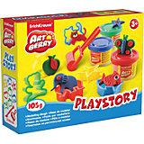 Набор для лепки: Пластилин на растительной основе Playstory 3 цвета по 35г
