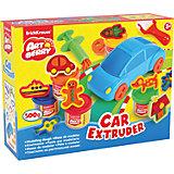 Набор для лепки: Пластилин на растительной основе Car Extruder 5 цвета по 100г