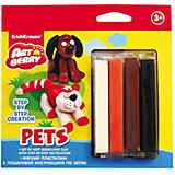 Пластилин мягкий 4цв+инструкция Pets Step-by-step Сreation Artberry
