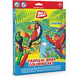 Наборя для творчества Tropical Birds Coloring Set Artberry