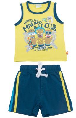 Комплект: майка и шорты для мальчика Sweet Berry - разноцветный