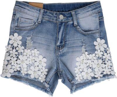 Шорты джинсовые для девочки Luminoso - голубой