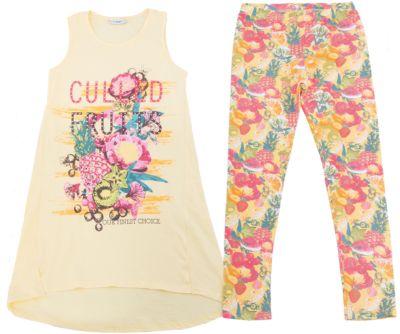Комплект: майка и леггинсы для девочки Luminoso - разноцветный