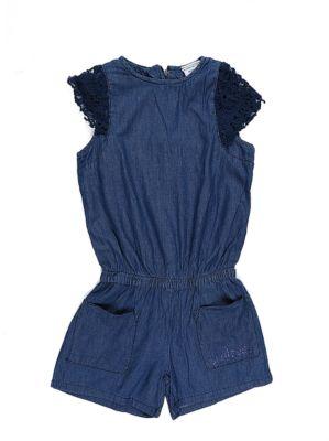 Комбинезон джинсовый для девочки Luminoso - синий