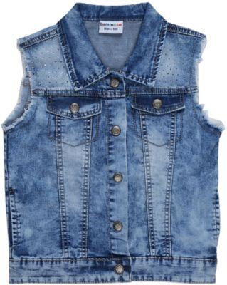 Жилет джинсовый для девочки Luminoso - синий