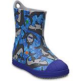 Резиновые сапогиKids' Crocs Bump It Graphic Rain Boot, синий