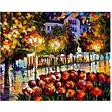 """Картина по номерам """"Афремов: Цветы Люксембурга"""", 40*50 см"""