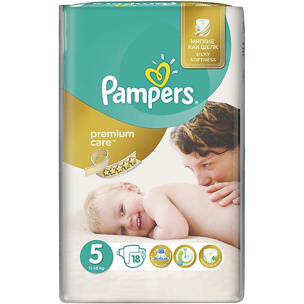 Подгузники Pampers Premium Care, 11-18 кг, 5 размер, 18 шт., Pampers