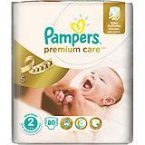 Подгузники Pampers Premium Care, 3-6 кг, 2 размер, 80 шт., Pampers