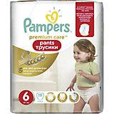 Трусики Pampers Premium Care Pants, 16кг+, размер 6, 19 шт., Pampers