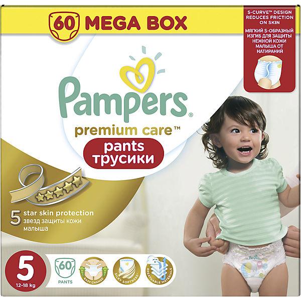 Трусики Pampers Premium Care Pants, 12-18кг, размер 5, 60 шт., Pampers