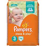 Подгузники Pampers Sleep & Play, 5-9 кг, 3 размер, 16 шт., Pampers