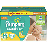 Подгузники Pampers New Baby-Dry, 3-6 кг, 2 размер, 144 шт., Pampers