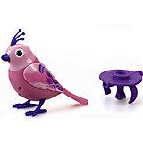 Поющая птичка с кольцом, фиолетово-розовая, DigiBirds