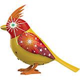 Птичка с мерцающими глазами, желто-красная, DigiBirds