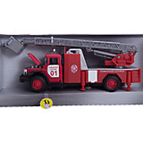 Машина ЗИЛ 131 Пожарная служба, свет+звук, ТЕХНОПАРК