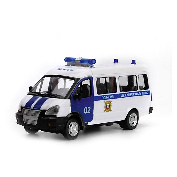 Машина ГАЗ Газель Полиция, свет+звук, ТЕХНОПАРК