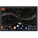 """Настольная карта """"Звездное небо, планеты"""" 58*38 см, ламинированная"""