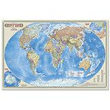"""Настольная карта """"Мир Политический"""" М1:55 млн, 58*38 см, ламинированная"""