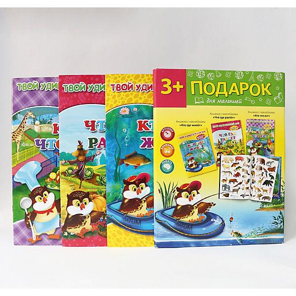 Подарок №10 (3 книги с многоразовыми наклейками), для малышей