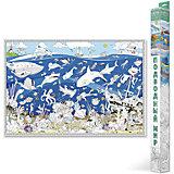 """Карта-Раскраска """"Подводный мир"""" 101*69 см"""