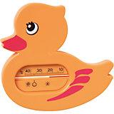 """Термометр для ванной """"Уточка"""", Kurnosiki, оранжевый"""