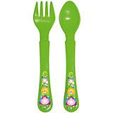 Набор: ложечка и вилочка, серия «Сафари», Kurnosiki, зеленый