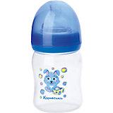 """Бутылочка с силиконовой соской """"Мои первые друзья"""", 150 мл, Kurnosiki, голубой"""