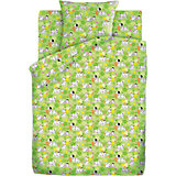 Детское постельное белье 3 предмета Кошки-мышки, Далматинцы, зеленый
