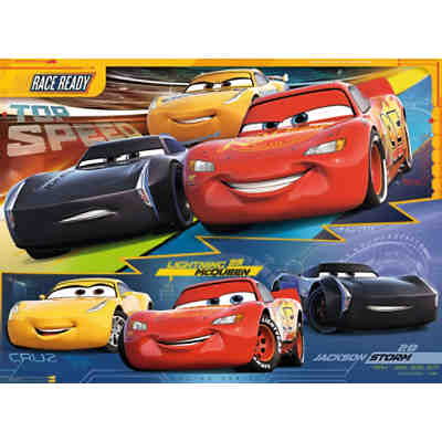 puzzle disney cars auf der rennstrecke 200 teile disney. Black Bedroom Furniture Sets. Home Design Ideas