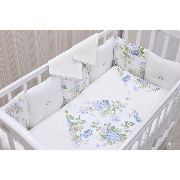 Детское постельное белье 3 предмета GulSara, Цветы, белый