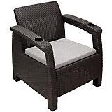 """Кресло """"Ротанг"""" с подушкой, Alternativa, коричневый"""