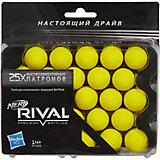 25 шариков для бластеров Райвал, NERF