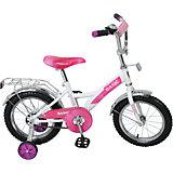 """Двухколесный велосипед """" Basic KITE"""", бело-фиолетовый, Navigator"""