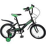 """Двухколесный велосипед """" Basic COOL KITE"""", черно-зеленый, Navigator"""