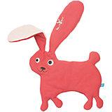 Комфортер-игрушка заяц, Wallaboo, красный,