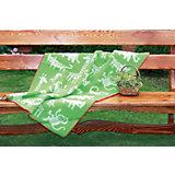 Одеяло эко-шерсть 90х130, джунгли, Klippan, зеленый