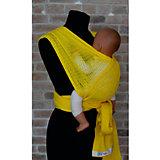 Слинг-шарф из хлопка плетеный размер s-m, Филап, Filt, желтый