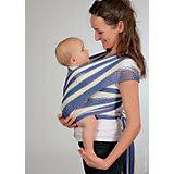 Слинг-шарф из хлопка плетеный размер s-m, Филап, Filt, сине-бежевый