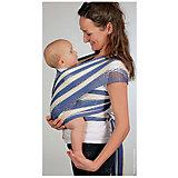 Слинг-шарф из хлопка плетеный размер l-xl, Филап, Filt, сине-бежевый