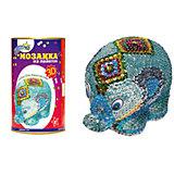 """Мозаика из пайеток """"3D Слон"""", Волшебная мастерская"""