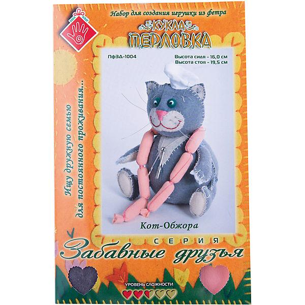 """Набор для изготовления  игрушки """"Кот Обжора"""", Перловка"""
