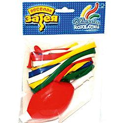 Набор шаров для моделироания с насосом, 10шт., в асс-те, Веселая Затея