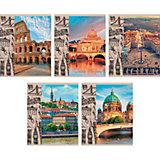 """Комплект тетрадей """"Памятные путешествия"""" (10 шт), 48 листов, Канц-Эксмо"""