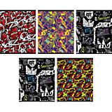 """Комплект тетрадей """"Граффити"""" (10 шт), 48 листов, Канц-Эксмо"""