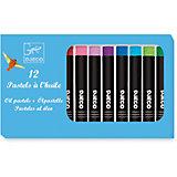 Набор пастельных карандашей, 12 классических цветов, DJECO