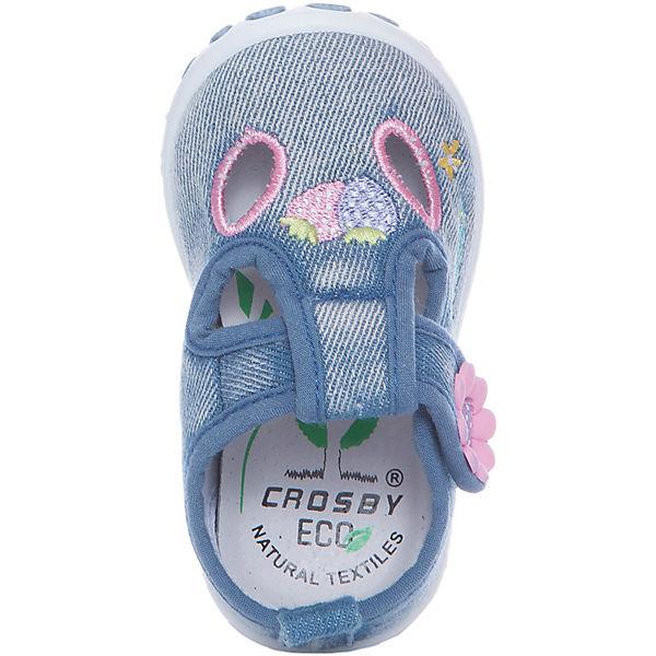 Туфли для девочки Crosby, голубой джинс