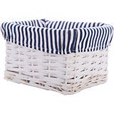 """Короб для хранения """"Голубая полоска"""", из плетеных ивовых прутьев, Феникс-Презент"""