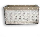 """Короб для хранения """"Белый горошек"""", из плетеных ивовых прутьев, Феникс-Презент"""